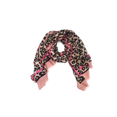 A touch of pink Leopard Scarf (NEW)