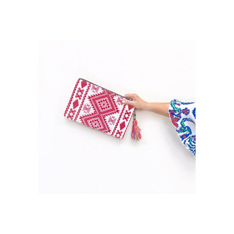 Geometric Clutch (Red) ON SALE