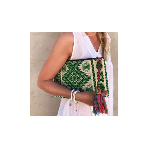 Geometric Clutch (Green)