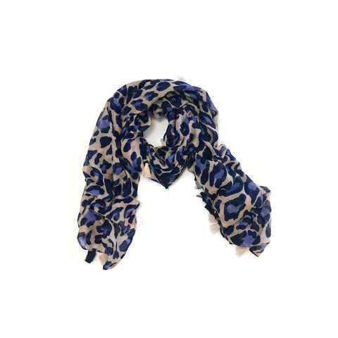 Blue Leopard Scarf (NEW)