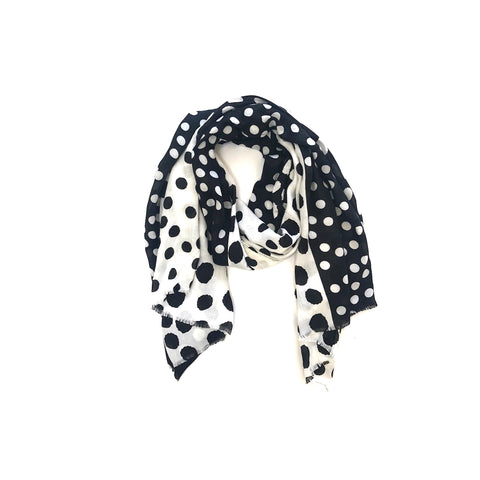 Black/White Spotty Scarf (NEW)