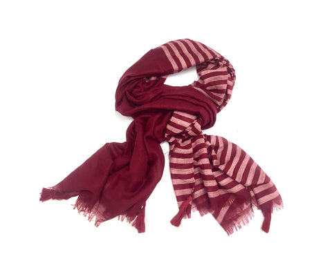 BERRY STRIPE SCARF