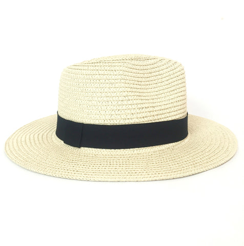 STRAW PANAMA HAT (LIGHT/BLACK)