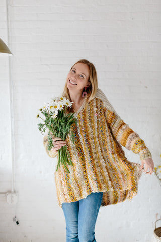 Amazing Technicolor Dreamsweater by Knit Collage and West Knits