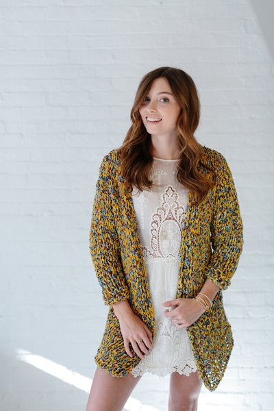 Knit Collage Oracle Cardigan Knitting pattern wildflower cotton yarn