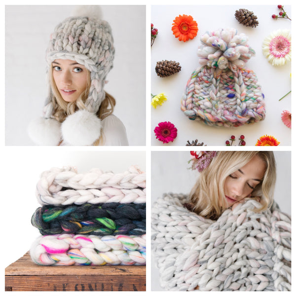 Knit Collage Wanderlust Knitting Patterns Chunky Knit Hats, Cowls and Blankets