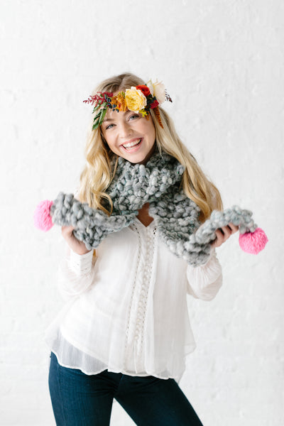 Knit Collage Bright Spot Scarf Knitting Pattern