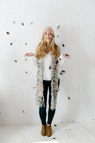 Knit Collage Chunky Marled Cocoon Scarf Pattern