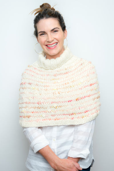 Kelbourne Woolens Fiber Co Yarn Daisy Chain Shoulderette Knit Collage