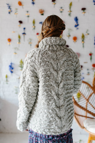Snowcap Cable Cardi Knit Collage Knitting Pattern by Knit Collage