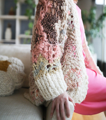 Garden Party Sweater Pattern Knit Collage
