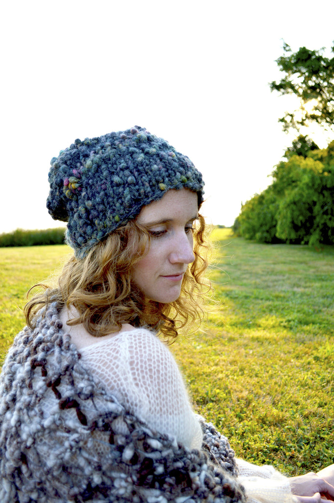 Cast Away Perfect Slouch Hat Pattern Knit Collage