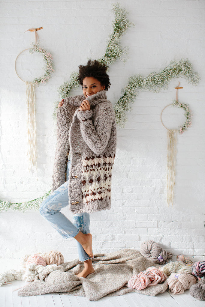 Cozy Thoughts Cardi Kit ~ Sister Yarn