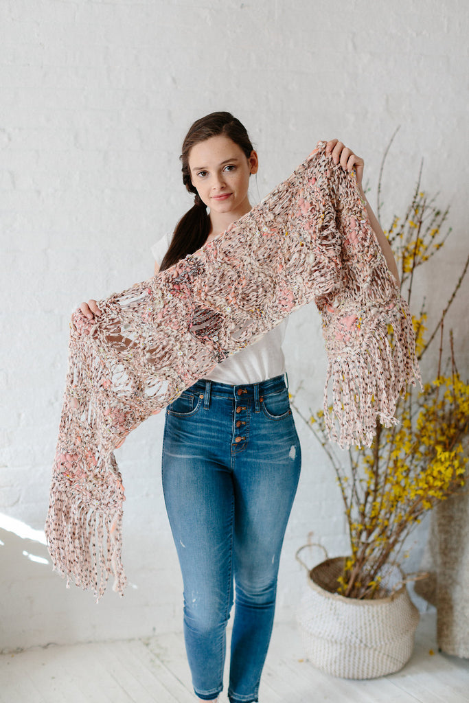 Dotted Sea Wave Shawl Pattern