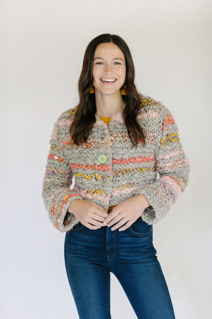 Feeling Groovy Cardi Knitalong Kit - STRIPED