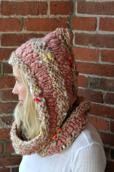 Hoodie Cowl Pattern Knit Collage