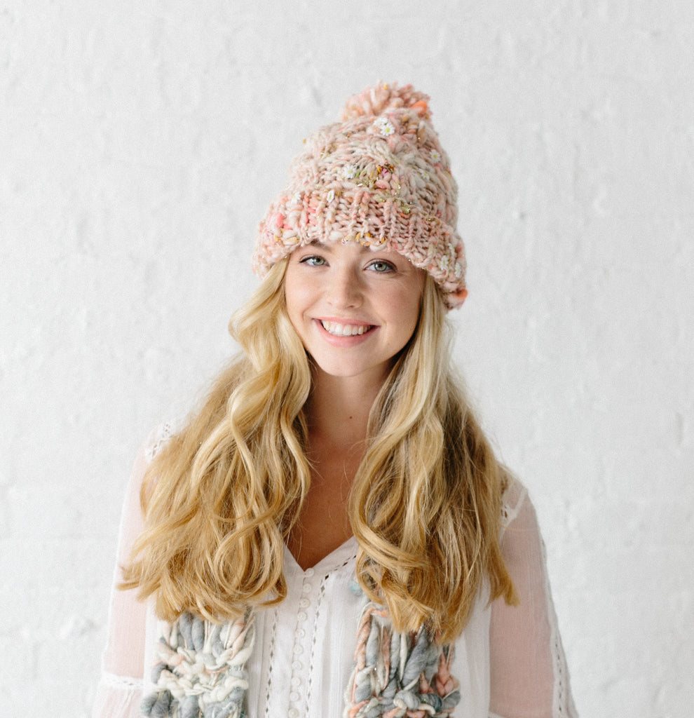Snow Bunny Cable Hat Pattern Knit Collage