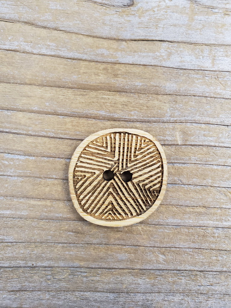 Etched Bamboo Buttons