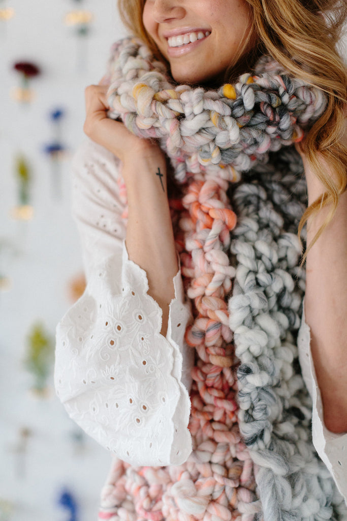 Counting Sheep Scarf Pattern – Knit Collage