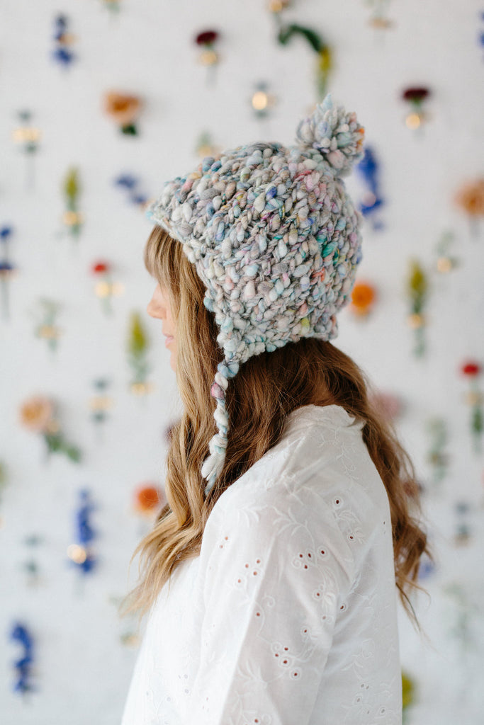 Modern Earflap Hat Pattern Knit Collage