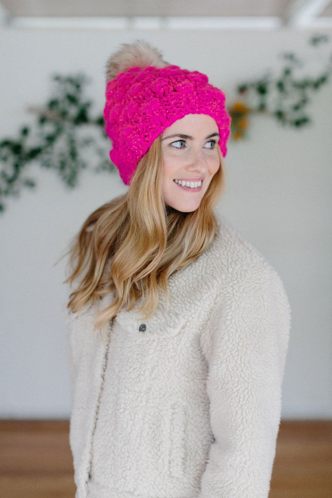Snowfall Bobble Hat Pattern