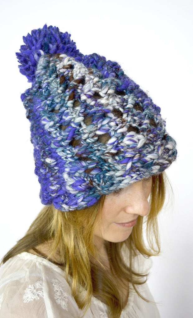Eyelet Cable Hat Pattern
