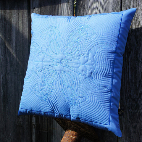 Buffalo Hawaiian Quilted Pillow