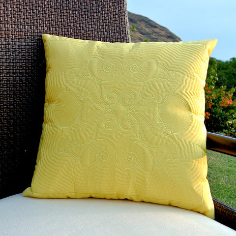 Seahorse Hawaiian Quilted Pillow