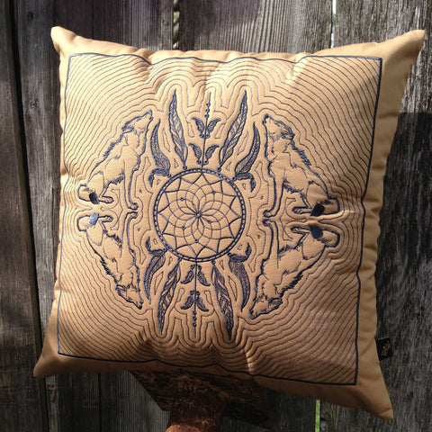 Dreamcatcher Hawaiian Quilted Pillow
