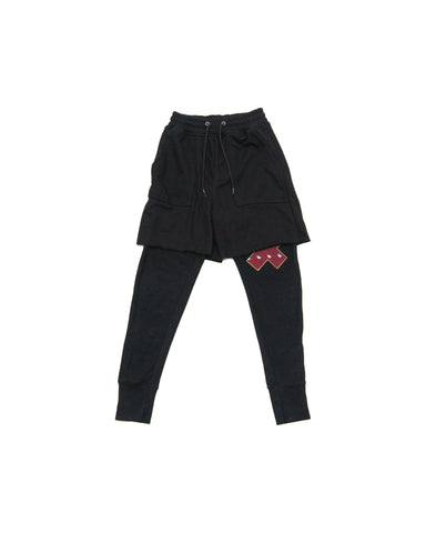 Scar Applique Sweatshort Jogger