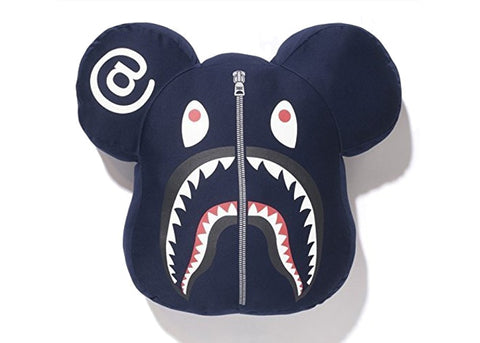 Bape Navy Medicom Shark Pillow