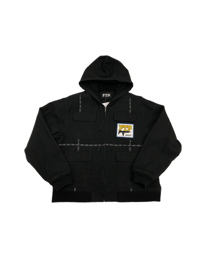 FTP Tactical Uzi Black Jacket Size Large