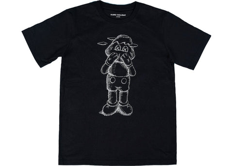 Kaws: Holiday Japan Face Black T-Shirt Sz. L
