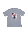 Grey Kiss T-Shirt Medium