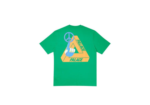 Palace Tri Smiler T-Shirt Green Size Small