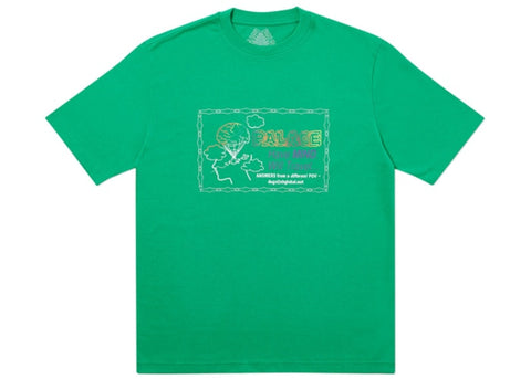 Palace Dont Call Me Green T-Shirt Size Large