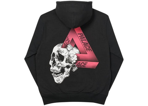 Palace Tri-Crusher Black Hoodie Size Large