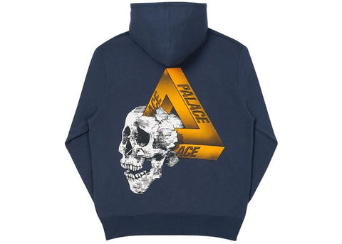 Palace Tri-Crusher Navy Hoodie Size Large