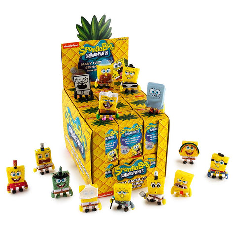 box display for spongebob square pants mini figure series kid robot