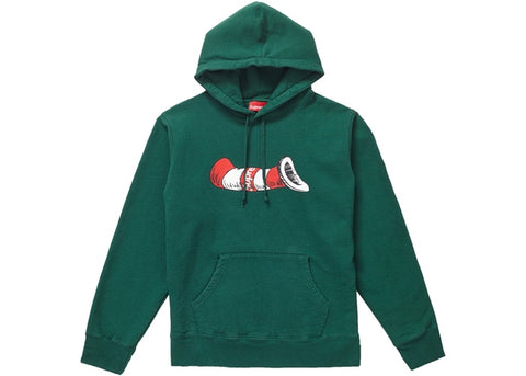 Supreme Green Cat In The Hat Hoodie Sz. M (C)