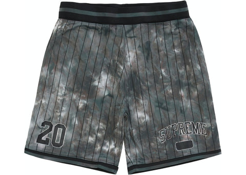 Supreme dyed Black Basketball Shorts Size Large