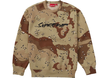 Supreme Futura Logo Chocolate Chip Camo Crewneck Size Medium
