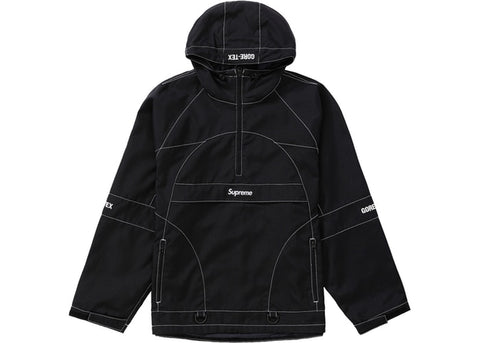 Supreme Black Gore-Tex Contrast Anorak Size Medium