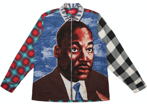 Supreme MLK Zip Up Flannel Size X-Large