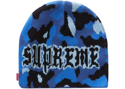 Supreme Paris Camo Blue Beanie