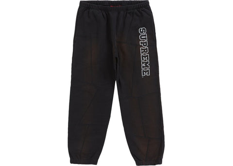 Supreme Patchwork Black Sweat Pants Size Medium