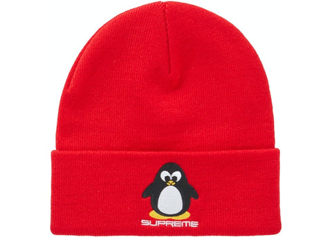 Supreme Penguin Red Beanie