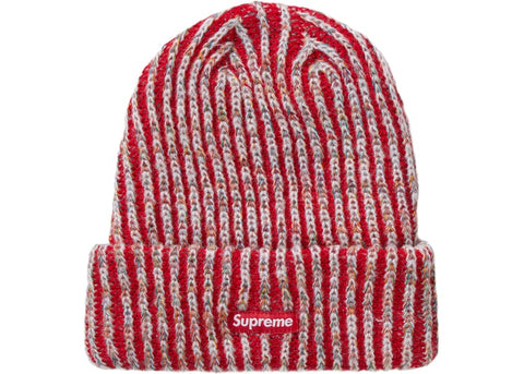 Supreme Raibow Knit Red Beanie
