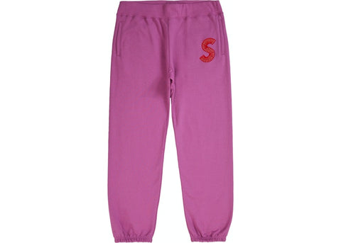 Supreme S Logo Purple Sweatpants Size Medium