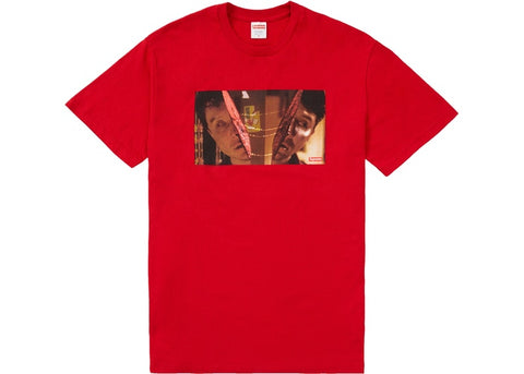 Supreme Split Red T-Shirt Size Large